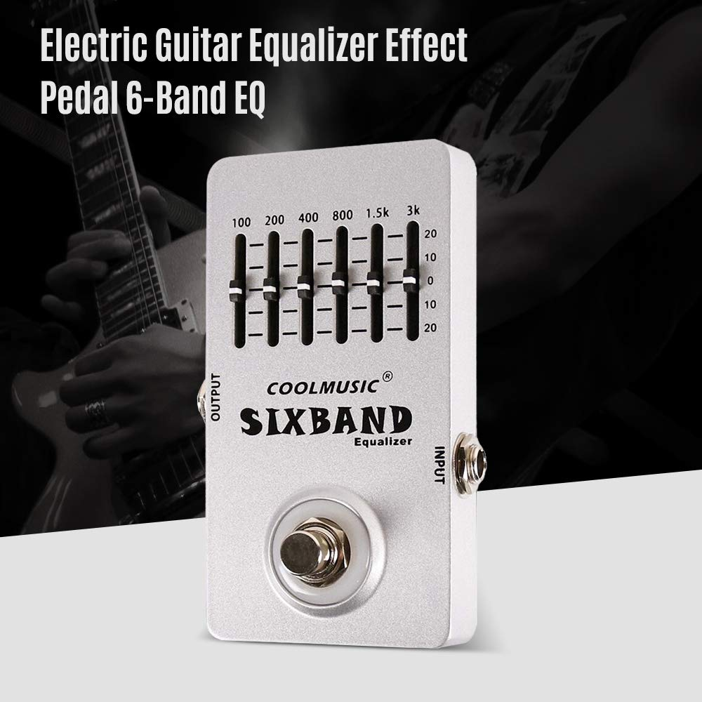 Electric Guitar Equalizer Effect Pedal 6-Band EQ Full Metal Shell True Bypass by Godyluck