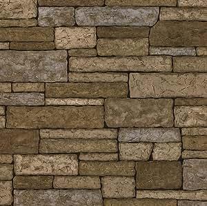 BHF 412–41391Bristol textura Wallpaper–Ladrillo