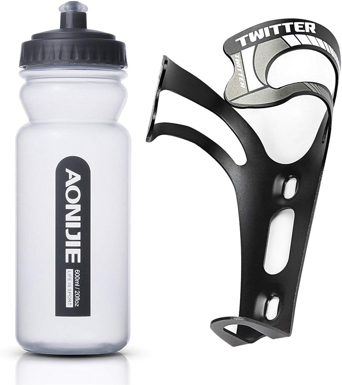 Geila Bike Water Bottle Holder - 20 Ounce Ultra-Light Alloy Aluminum Universal Bikebottle Cage, Bracket Mountain Bicycle Water Bottle Holder Bracket Drink Bike Water Bottle Cages