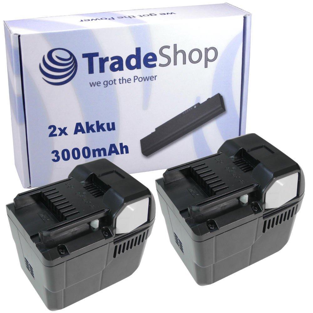 2x Hochleistungs Li-Ion Akku, 36V / 3000mAh ersetzt Hitachi 328036 BSL3626 für Hitachi 36DL DH36DL 36DAL DH36DAL