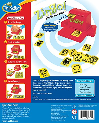 ThinkFun Zingo Bingo Award Winning Game for Pre-Readers and Early Readers Age 4 and Up by Think Fun (Image #1)