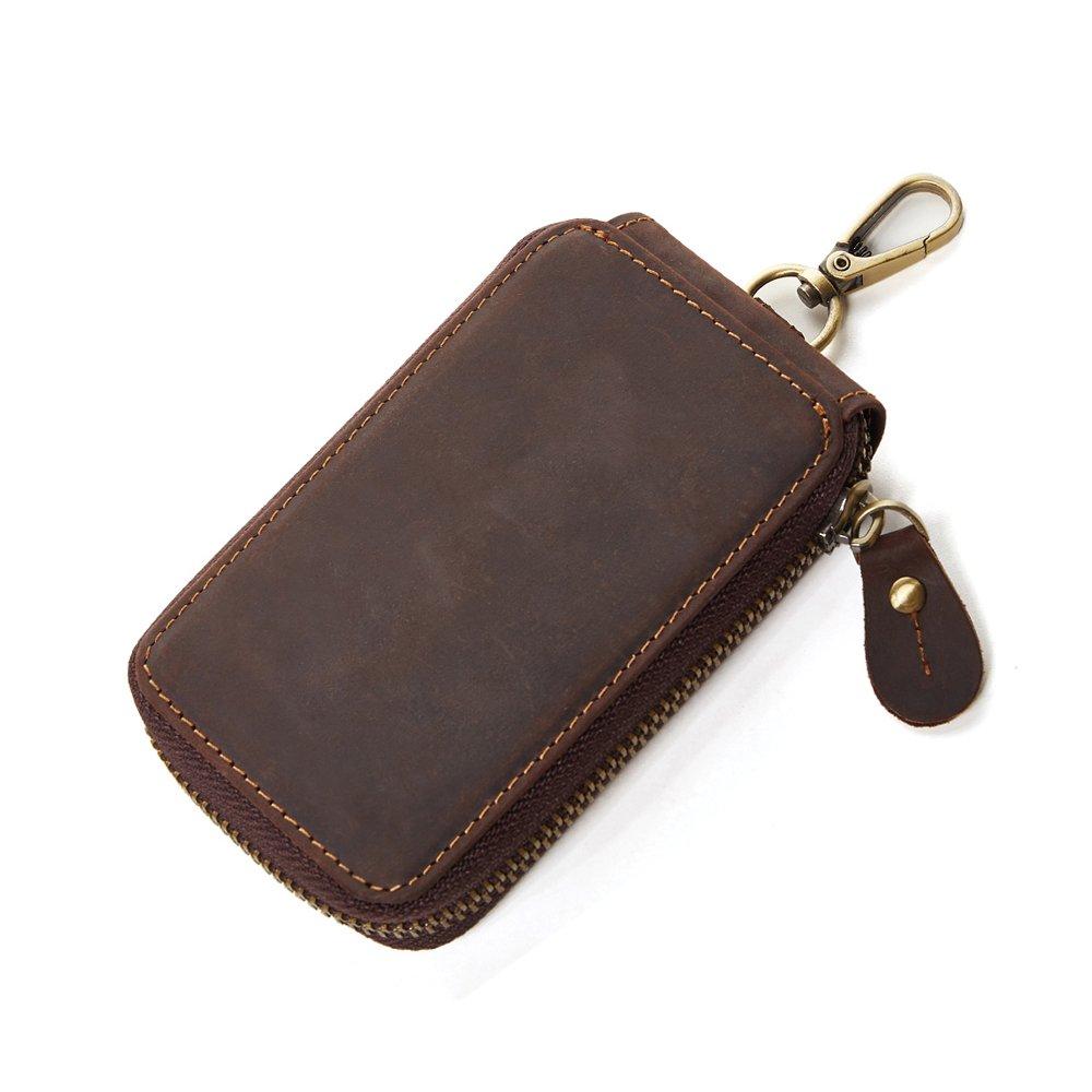 CoCosion Genuine Leather Fashion Men's Car Key Cain