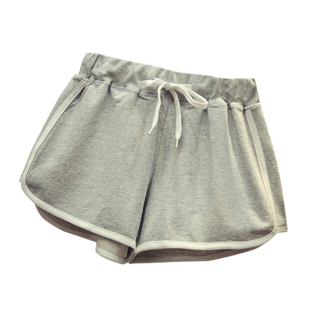 PLENTOP 5 Workout Shorts Women, See Through Leggings,Fashion Women High Waist Yoga Sport Pants Shorts Casual Pants Leggings Gray