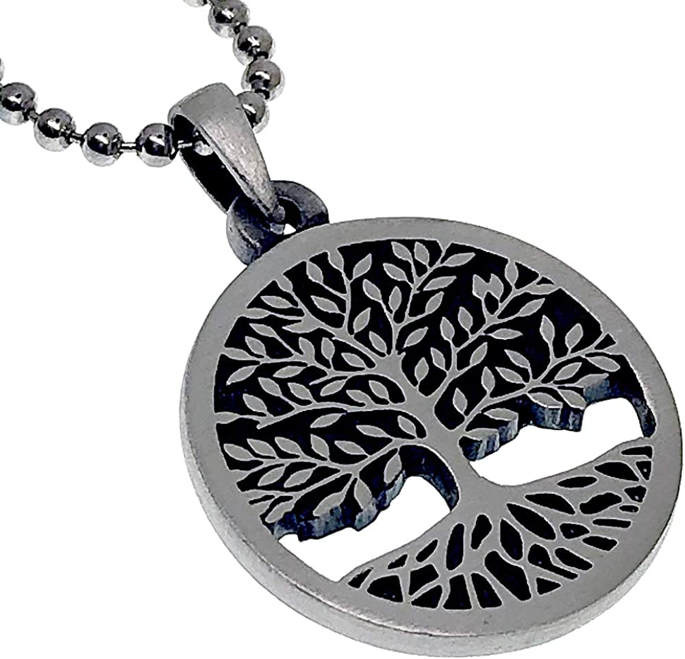 Yggdrasil tree of life pendant with aquamarine tree of life necklace esoteric jewelry