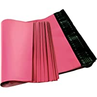 Poly mailers 10x13 Shipping Bags 10 x 13 by Amiff. Pack of 100 Poly envelopes. Hot Pink mailing Bags 2.5 mil Thick. Peel and Seal, Waterproof, Lightweight. Wrapping, Packing, Packaging.