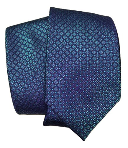 Brioni Hand Made In Italy Pure Silk Geometric Turquoise (Brioni Mens Silk Tie)