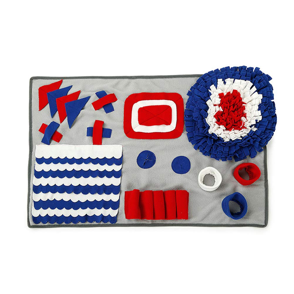 ZCYCY Smellymatty Snuffle Mat for Dogs, Slow Feeding Games with Stress Relief for Boredom Increase Foraging Skills Dog Toy,A