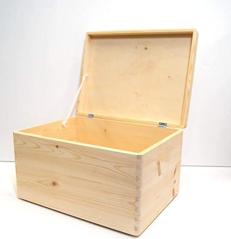 Xmas - Caja de Madera con bisagras para Guardar Juguetes, tamaño ...