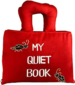 Naveeti My Quiet Book with red Cover - Educational Early Learning Activity Quiet Book for Babies and Kids. A Fun Filled Busy Book That Children Will Love.