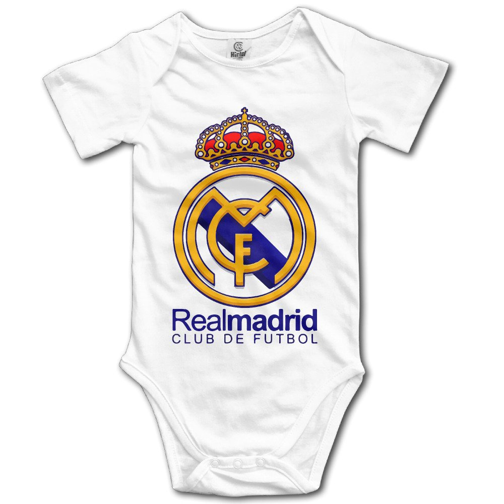8c8fa8e90 Amazon.com  IMMAZM Real Madrid Club De Fútbol Baby Climbing Clothes  Bodysuit  Clothing