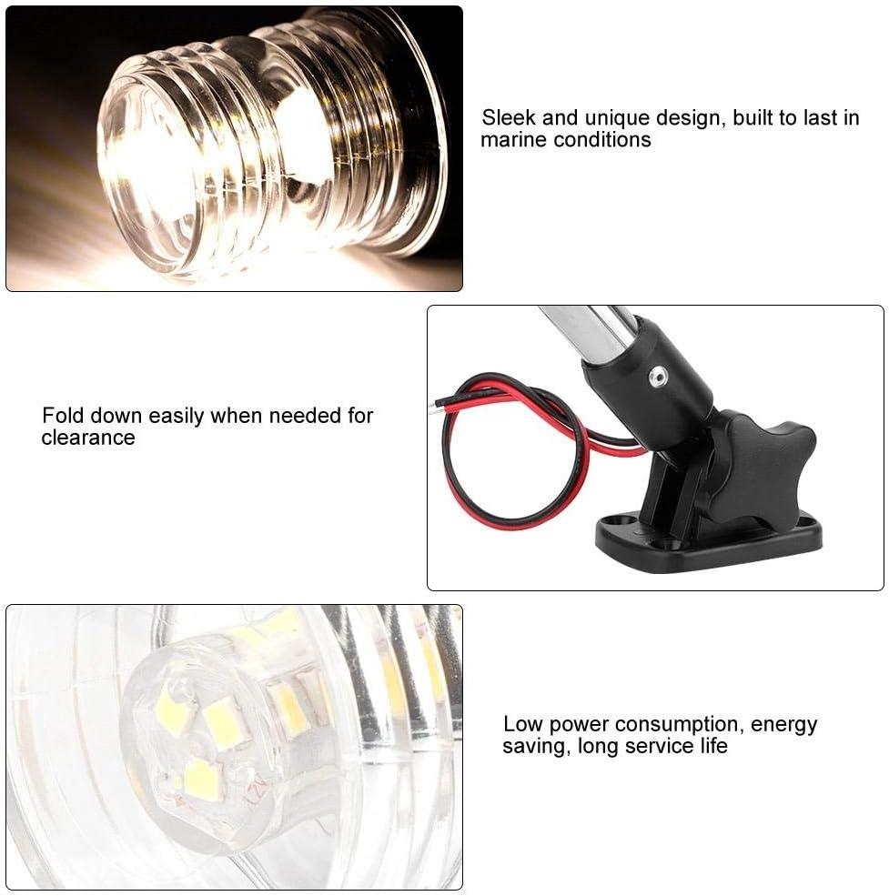 Luce di navigazione a LED universale pieghevole da 245 mm regolabile per luce di ancoraggio di poppa per yacht
