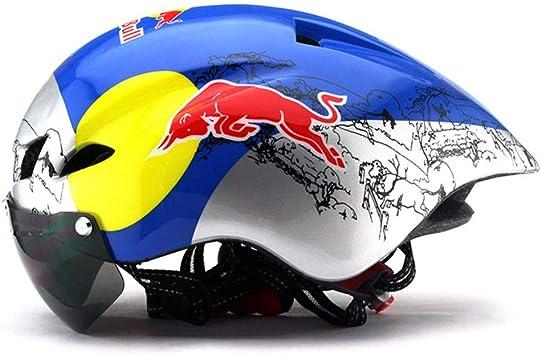 Pkfinrd Ciclismo Casco Bicicleta de montaña Bicicleta Gafas ...