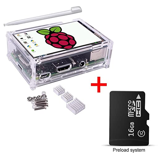 49 opinioni per Per Raspberry Pi 3 Model B B+, Kuman SC11 Tablet LCD Touch Screen 3.5 Pollici