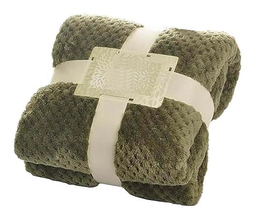 Dunkelgrün Flanell Wurf Decke Baby Decke Couch Sofa Decke Für Nap