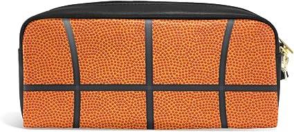 Estuche para lápices de baloncesto para adolescentes, con cremallera, para niños, niñas, colegio, material de escritura de piel sintética con compartimentos: Amazon.es: Oficina y papelería