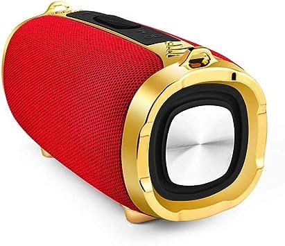 qiyanBluetooth Speaker Impermeable Portátil Al Aire Libre Inalámbrico Inalámbrico Mini Columna Caja Soporte de Altavoz Tarjeta TF FM Estéreo Hi Fi Box en Altavoces Portátiles Rojo: Amazon.es: Electrónica