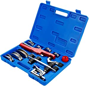 Tube Bender Kit Refrigeration Ratcheting Tubing Benders with Reverse Bending Attachment Hand Tool 1/4 to 7/8 Inch