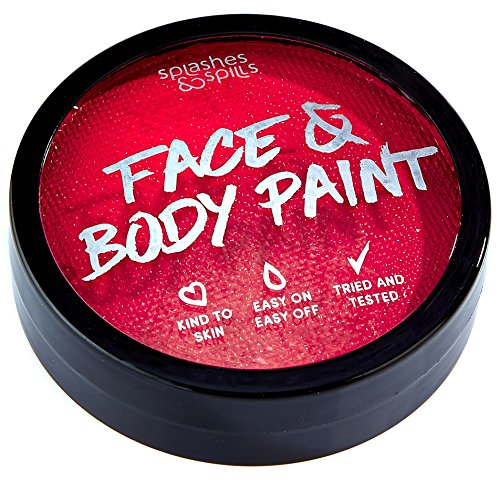 Water Activated Face and Body Paint - Red,