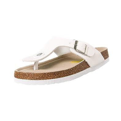 Supshark Neuer Stil Sommer Damen Strand Sandalen Zehentrenner Komfort Pailletten Sandaletten Schlappen Hausschuhe Pantoletten Schuhe Sandalen - Pantoletten mit Korkfußbett (UK6.5, 10)