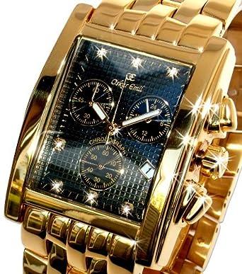 Oskar Emil Rodez Chronograph Herren Uhr Gold Mit Diamanten Auf