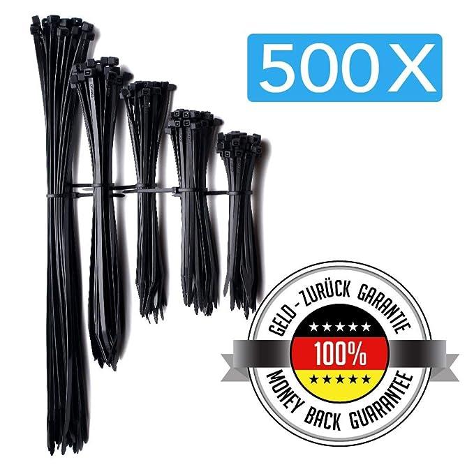 37 opinioni per Cofenzione da 500 Fascette fermacavi/stringicavo nere in nylon | 4 diverse