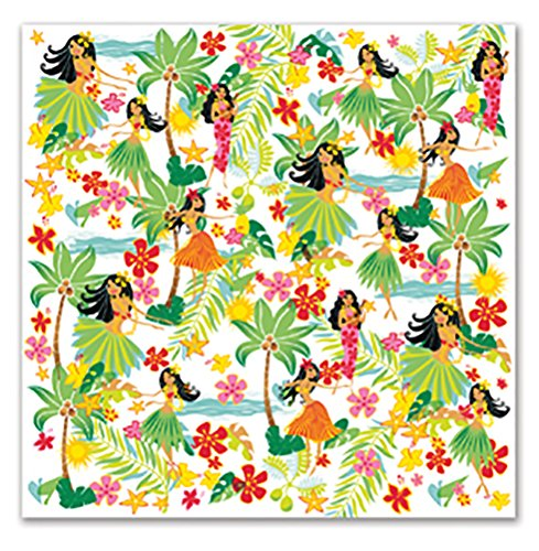 4 Packs Hawaiian Cocktail Beverage Paper Party Napkins Island Hula Honeys (Island Hula Honeys)