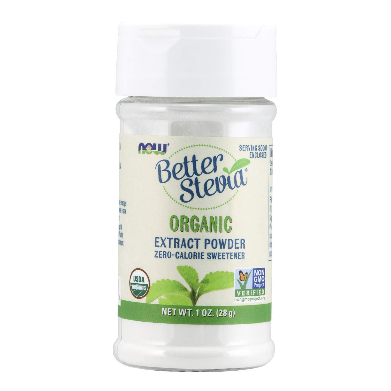 NOW Stevia White Extract Powder, 1-Ounces (Pack of 2)