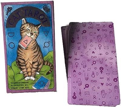 Sliveal 78 Hojas Tarot de Gatos paganos, Tarot de Gato, Tarot, Tarjeta de Juego de Mesa Wonderful: Amazon.es: Juguetes y juegos