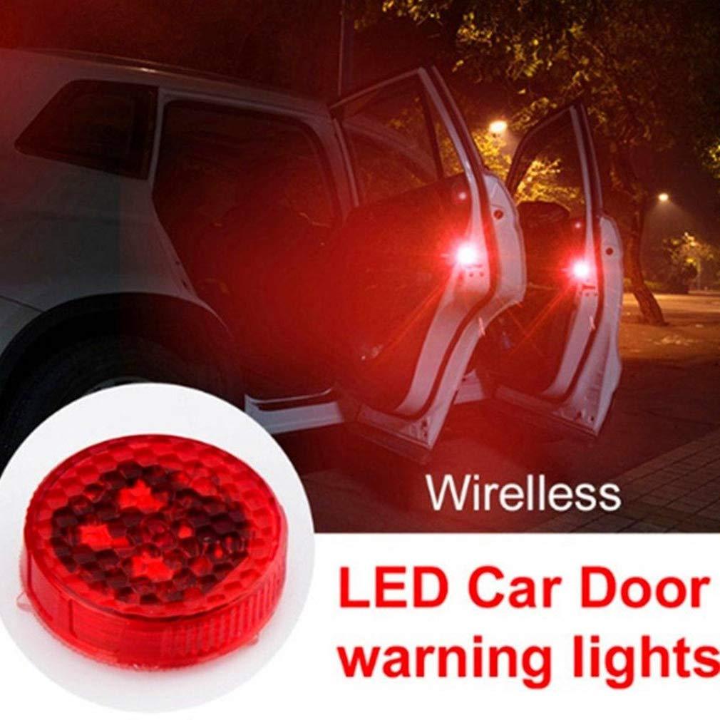 YAYONG Una Comoda Porta a bulbo Rossa in Modo Sicuro Aprire Wireless Auto Spia Luminosa LED Flash