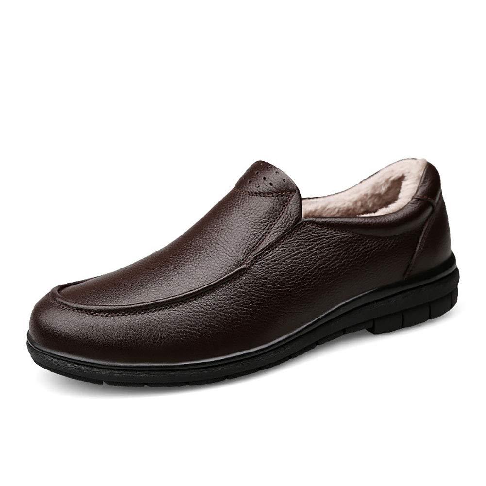 Herren Casual Lederschuhe Comfort Driving Schuhes Work Outdoor Wanderschuhe Formale Business Work Schuhes Spring Fall Brauncotton 99bff6