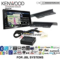 Volunteer Audio Kenwood DNX574S Double Din Radio Install Kit with GPS Navigation Apple CarPlay Android Auto Fits 2003-2006, Toyota Tundra, 2005-2007 Toyota Highlander (With Factory JBL System)