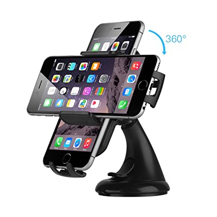 best service 38c80 b5ae2 Amazon.com: Car Mount, EC Technology Car Holder Windshield Dashboard ...