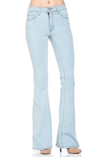 216dcfc9d2c08a O2 Denim Women's Light Wash Denim Flare Jeans Size 27 Light Blue at Amazon  Women's Jeans store