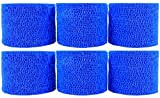 Powerflex 2'' Stretch Athletic Tape - 6 Rolls - Blue