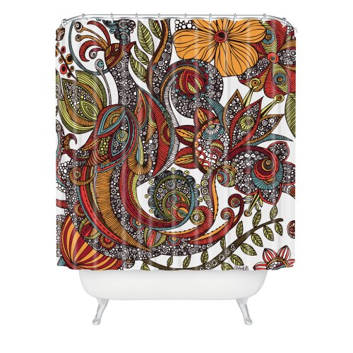 - Deny Designs Valentina Ramos Paradise Bird Shower Curtain, 69 x 72