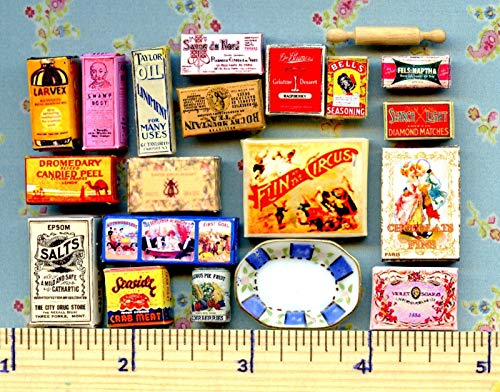 Dollhouse & Miniature Dolls' Houses Miniature 1:12 and 1:24 Scale Victorian Visual Bargain Grab Bag Sales Lot Welcome to Minimum World (Sale For Victorian Garden Furniture)