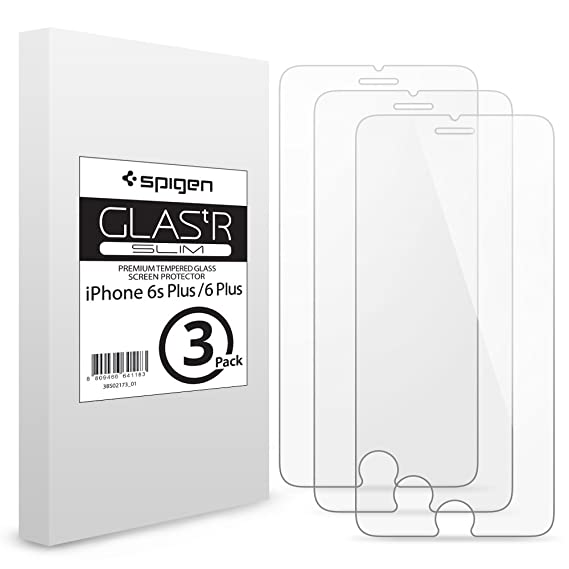 huge selection of e31b6 0c590 Spigen iPhone 6s Plus Screen Protector Tempered Glass 3 Pack for Apple  iPhone 6s Plus/iPhone 6 Plus