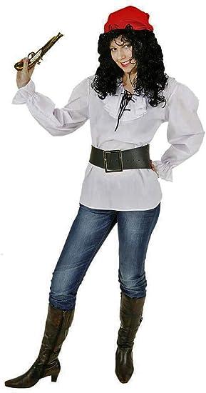 Disfraz Blusa Blanco Pirata Blusa Talla 36/38 también para ...