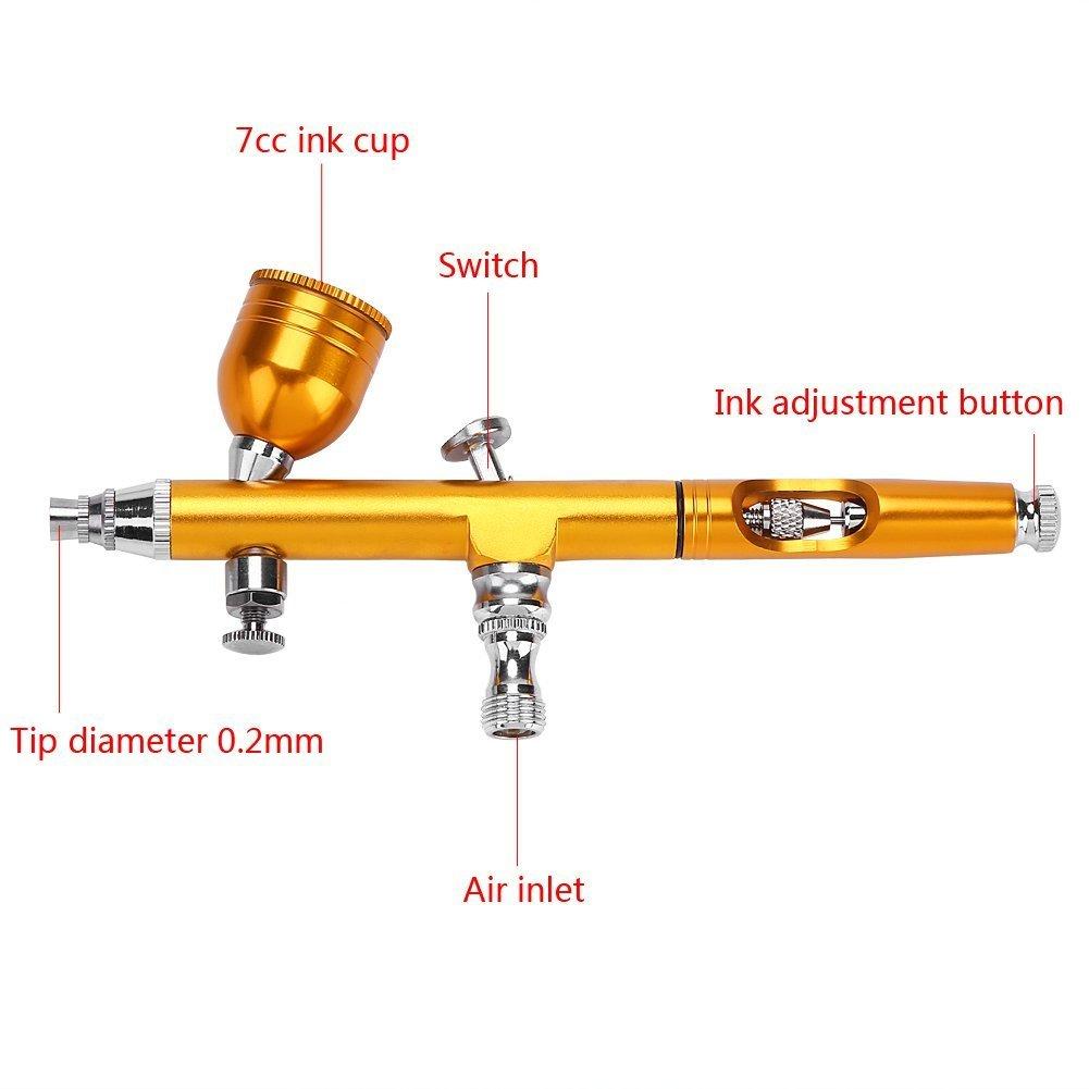 Pistola aerografo professionale da 0,3 mm pistola a spruzzo per decorazione di torte e tatuaggi