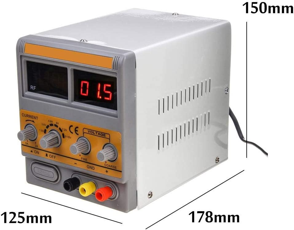 DELAMZ Strengthened 1502D 0-15V 0-2A Adjustable Digital DC Power Supply W//GSM CDMA PHS Signal Detection for Mobile Phone Maintenance