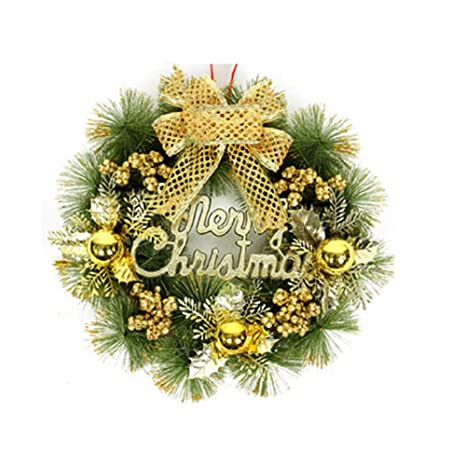 brave669 clearance dealschristmas garland wreath door tree bell bowknot hanging ornament home decor