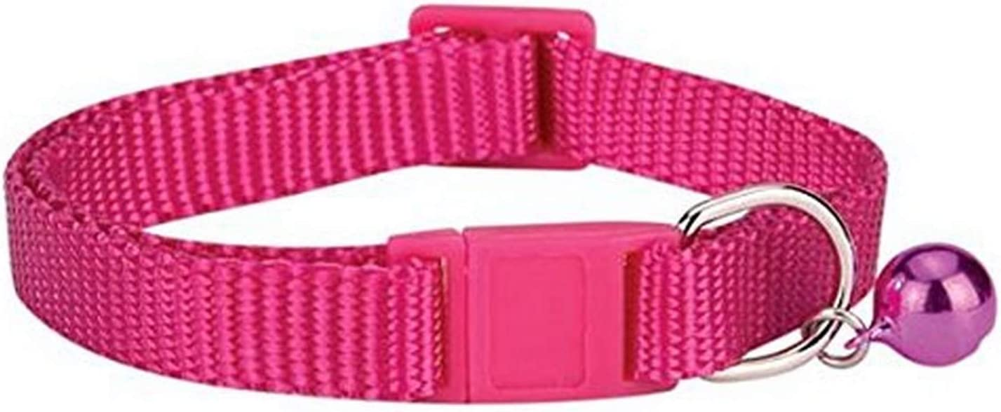 PetLoft Cat Collar with Bells Available in Set of 6 Mixed Colors Breakaway Velvet Cat Collars for Most Sizes of Cats