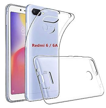 LUCKLYSTAR® Funda Xiaomi Redmi 6/6A Silicona Transparente, Protector Carcasa Redmi 6/6A Suave Transparente Silicona Protectora TPU Gel Fina Case para ...