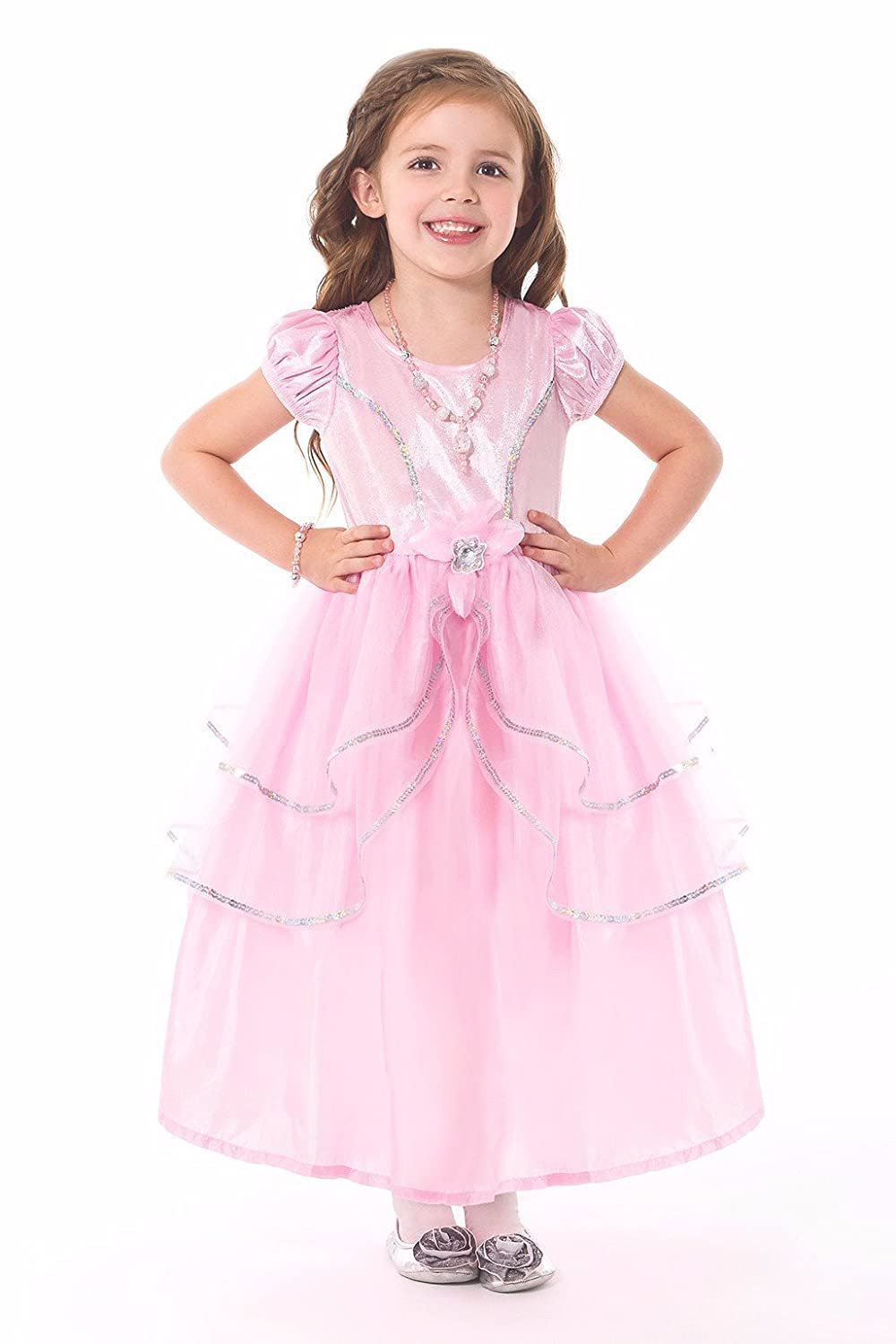 Amazon.com: Little Adventures Pink Princess Dress Up Costume For ...