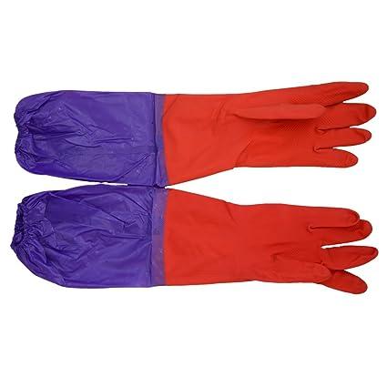 ueetek Acuario Water Change Guantes par de guantes Codos Longitud resistente de agua