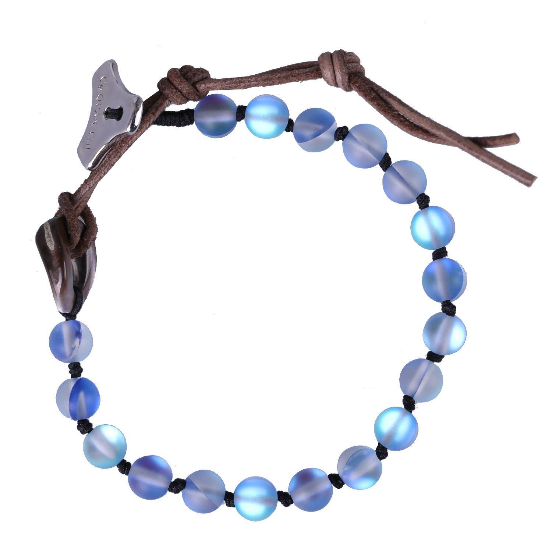 C·QUAN CHI Women Bracelet Moonstone Jewelry Gem Semi Precious Gemstone Strand Bracelet Charm Adjustable Beaded Bracelet Women Gifts Women Girls by C·QUAN CHI