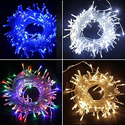 PMS 300/400/500 LED Battery Power Operated String Fairy Lights for Christmas Tree Xmas Garden Party Decoration
