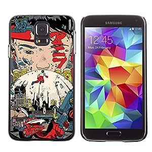 EJOY---Cubierta de la caja de protección la piel dura para el / Samsung Galaxy S5 / --Akira póster
