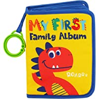 Urban Kiddy™ Baby's My First Family Album   Soft Photo Cloth Book Gift Set for Newborn Toddler & Kids (Dinosaur)