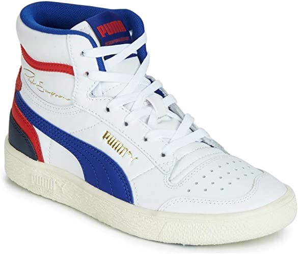 PUMA Ralph Sampson MID JUNIOR Sneaker Kind WeissBlauRot
